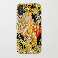 mucha iPhone & iPod Cases featuring Marguerite's Bower, Mucha by Vintage Era Art