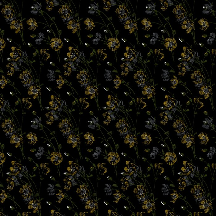 Poppy Floral - Black Comforters