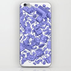 Retro Gamer - Blue iPhone Skin