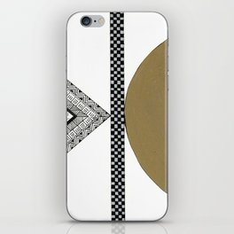 Geometric Shapes with Gold, Copper and Silver iPhone Skin
