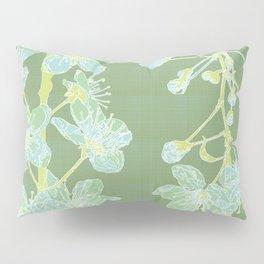 Maiko Blossom Cherry - sage Pillow Sham