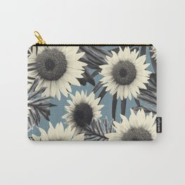 Tropical Sunflower Jungle Leaves Pattern #2 #tropical #decor #art #society6 Carry-All Pouch
