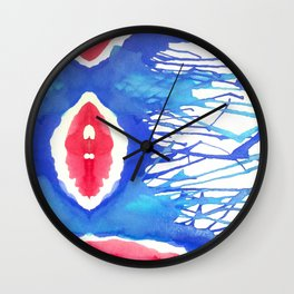 Watercolor Improv Wall Clock