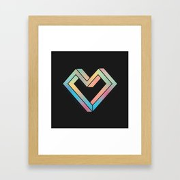 le coeur impossible (nº 4) Framed Art Print