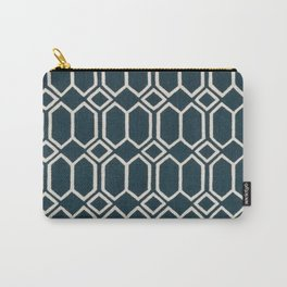 Geometrics in Blue and White Diamonds Carry-All Pouch