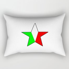 flag of Italia star - Italy,Italia,Italian,Latine,Roma,venezia,venice,mediterreanean,Genoa,firenze Rectangular Pillow