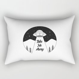 'Take Me Away' UFO Rectangular Pillow