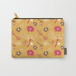 Orange Flower Repeat Carry-All Pouch