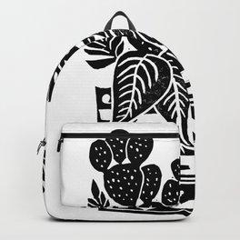 Botanical Pot Block Print Backpack