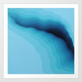 Cubed Glacier I Art Print