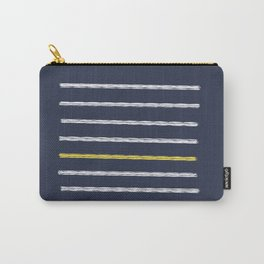Lines and Shy Yellow Carry-All Pouch