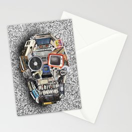retro tech skull 5 Stationery Cards