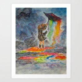 Bleeding Rainbows Art Print