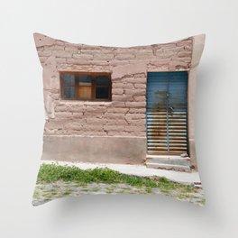 Bolivia door 4 Throw Pillow