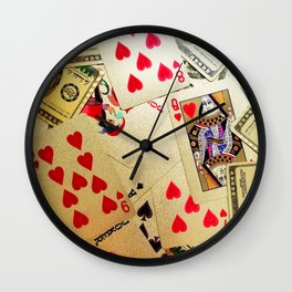 Cards Wall Clock