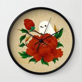 Minhwa: Crow-Tit and Peony A Type Wall Clock