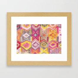Kilim Me Softly in Pink Framed Art Print