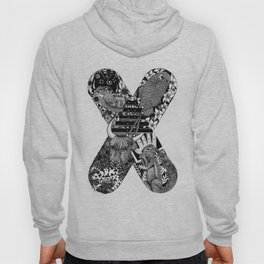 Monogram Letter X Hoody