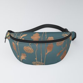 Art Deco Copper Flowers  Fanny Pack