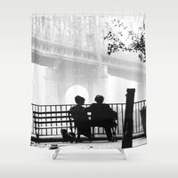 manhattan Shower Curtains featuring MANHATTAN by VAGABOND