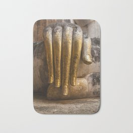 Golden Hand of a Buddha in Wat Sri Chum Thailand Bath Mat