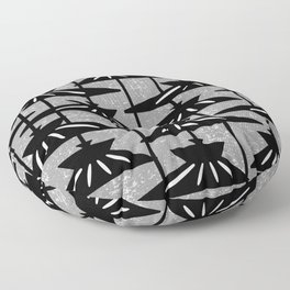 Mid Century Modern Pendant Lamp Composition Grey Floor Pillow