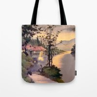 "asian Tote Bags featuring "" ASIAN DREAM "" by James Dunlap"