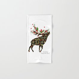 Christmas reindeer Hand & Bath Towel