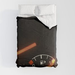 Fuel Gauge, Full Tank, Car Fuel Display Comforters