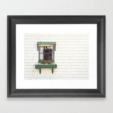The Green Window Framed Art Print