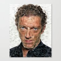 actor Canvas Prints featuring French Actor by Miguel A. Martin