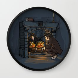 The Witch in the Fireplace Wall Clock