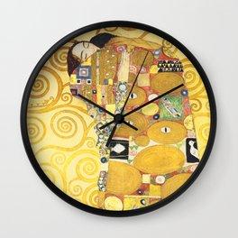 Gustav Klimt - The Embrace - Die Umarmung - Vienna Secession Painting Wall Clock