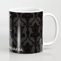 scandal Mugs featuring A Scandal in Belgravia by MacGuffin Designs