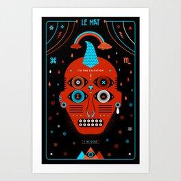 TAROT. - Le Mat Art Print