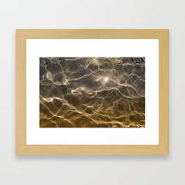 golden reflection 0341 undewater sand Framed Art Print