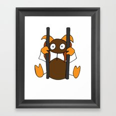 Poor chained thing Framed Art Print