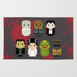 Pixel Art - Classic Horror Movies Monsters Rug