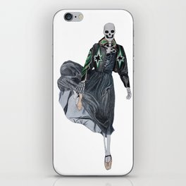 leather & ballet skeleton iPhone Skin