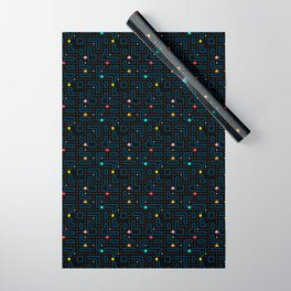Pac-Man Retro Arcade Video Game Pattern Design Wrapping Paper