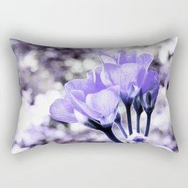 Periwinkle Flowers Rectangular Pillow