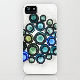 Bromo Seltzer Vintage Glass Bottles Top - Abstract iPhone Case
