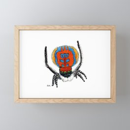 Peacock Spider Framed Mini Art Print