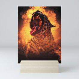 Fire Leopard Mini Art Print