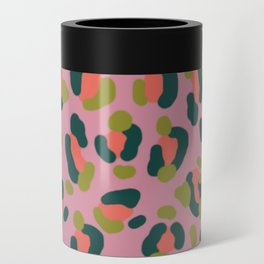 Pink Leopard Can Cooler