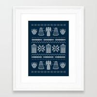 sweater Framed Art Prints featuring Who's Sweater by Mandrie