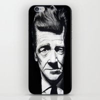 lynch iPhone & iPod Skins featuring David Lynch by Black Neon