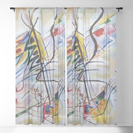 Violet Wedge, Abstract, Wassily Kandinsky, 1919 Sheer Curtain