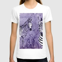 ZEBRAS in E. Africa                                          by Kay Lipton T-shirt