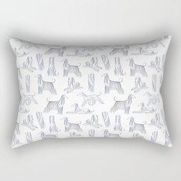 Afghan Hounds Pattern Rectangular Pillow
